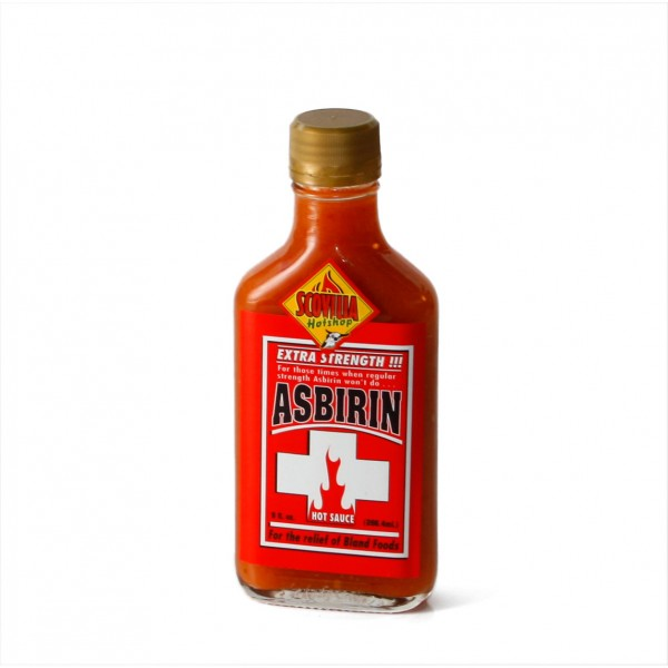 Asbirin Hot Sauce - Extra Strength!!!, 266ml