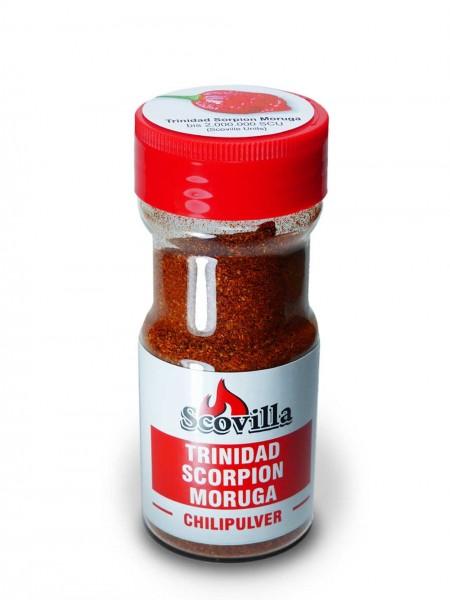 Scovillas Trinidad Scorpion Moruga Red, Chilpulver im Shaker, 50g
