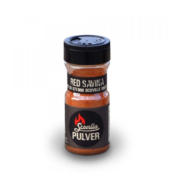 Scovillas Red Savina, Chilipulver im Shaker, 50g