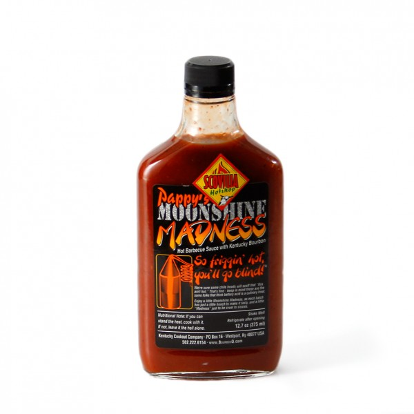 Pappys Moonshine Madness Hot BBQ Sauce 375ml
