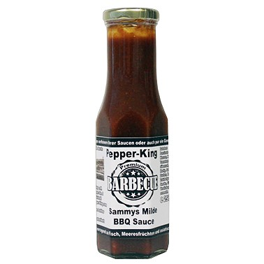 Pepper King Sammys Milde BBQ Sauce, 256ml