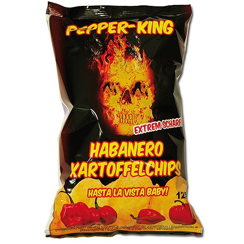 Pepper King Habanero Chips, 125g