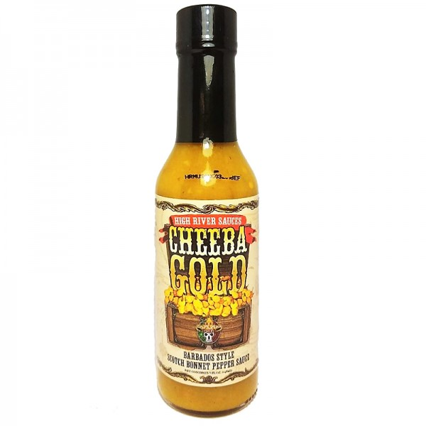High River Sauces Cheeba Gold Barbados Style Scotch Bonnet Pepper Sauce, 148ml