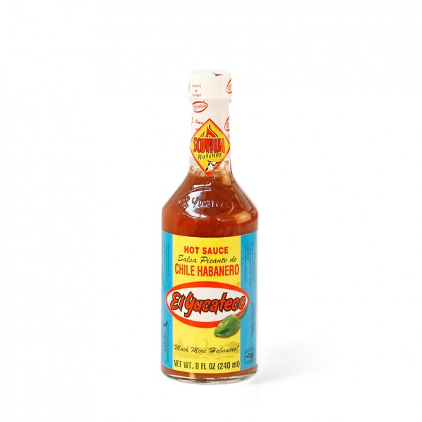 El Yucateco Red Hot Sauce - Salsa Picante de Chile Habanero, 237ml