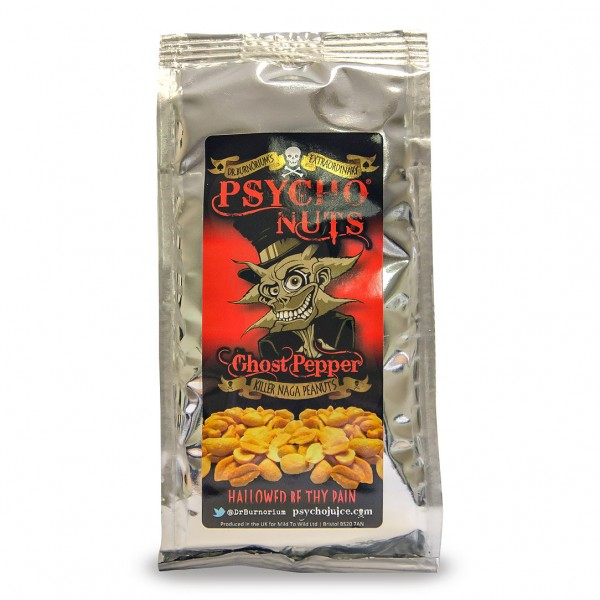 Psycho Nuts, Ghost Pepper Peanuts, 80g
