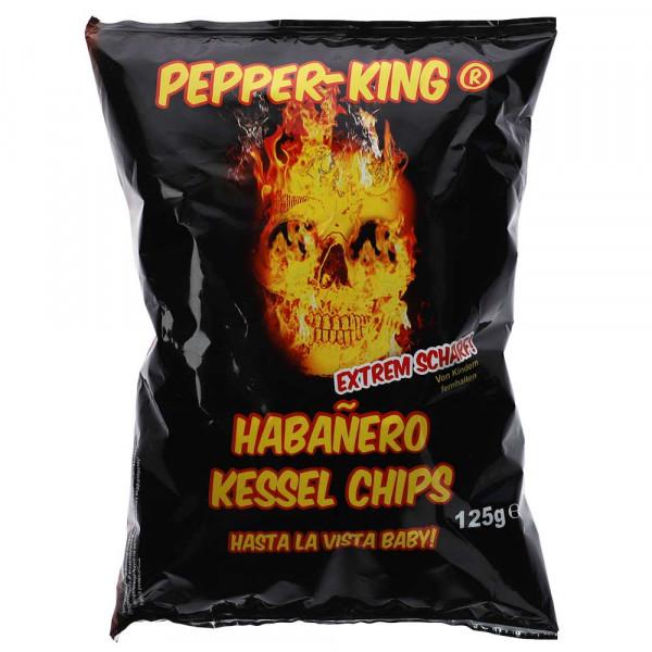 Pepper King Habanero Chips, 125g