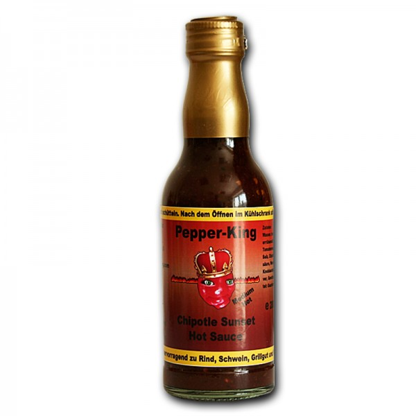 Pepper King Chipotle Sunset Hot Sauce, 200ml