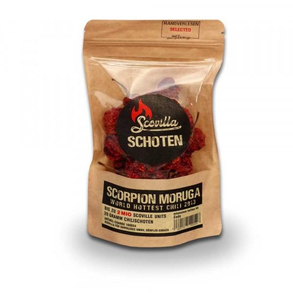 Scovillas Scorpion Moruga Schoten, getrocknet, 20g