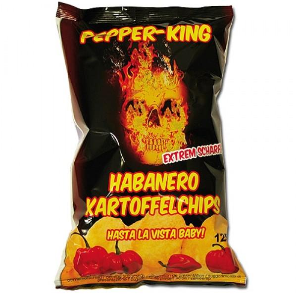 Pepper King Habanero Chips, 125g Case 10 Packungen