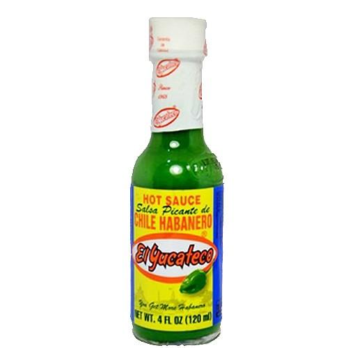 El Yucateco Green Hot Sauce-Salsa Picante de Chile Habanero, 118ml