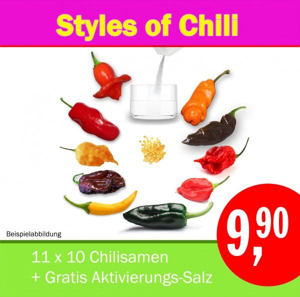 AKTION: Styles of Chili (S14), Chilisamen-Starter-Set