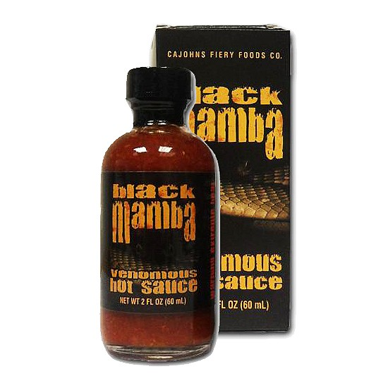 CaJohns Black Mamba Extreme Hot Sauce, 59ml