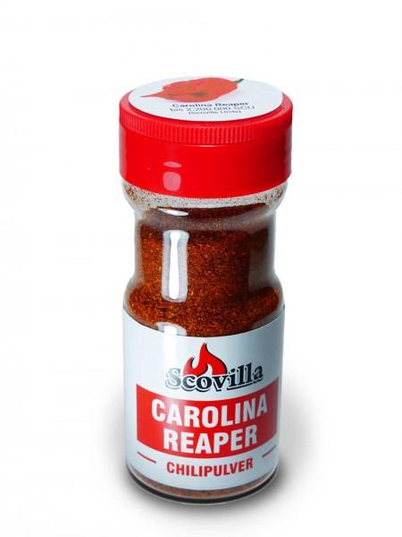 Scovillas Carolina Reaper, Chilipulver im Shaker, 50g