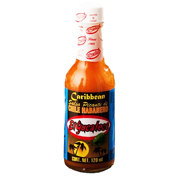El Yucateco Caribbean Chile Habañero, Hot Sauce, 120ml