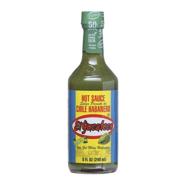 El Yucateco Green Hot Sauce-Salsa Picante de Chile Habanero, 237ml