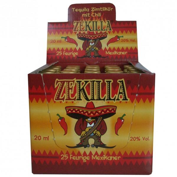 ZEKILLA - Tequila Zimtlikör mit Chili - Box 25x0,02l