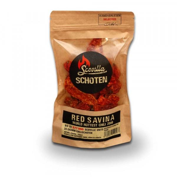 Scovillas Red Savina Schoten, getrocknet, 20g