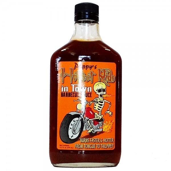 Pappys Hottest Ride in Town, BBQ Sauce, 376ml