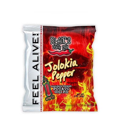 Blairs Death Rain Jolokia Chips, 85g